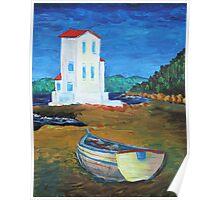 Oil Painting - Santa Flavia, Sicily 2011 Poster