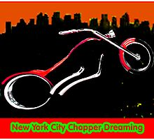 New York City Chopper Dreaming Red jGibney The MUSEUM RedBubble Gifts FA by TheMUSEUM