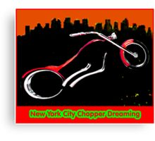 New York City Chopper Dreaming Red jGibney The MUSEUM RedBubble Gifts FA Canvas Print