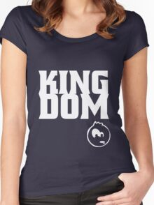 KingDom Black & Navy Women's Fitted Scoop T-Shirt