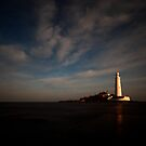 St. Mary's Island and lighthouse by PaulBradley