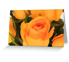 Yellow Rose Bouquet Greeting Card