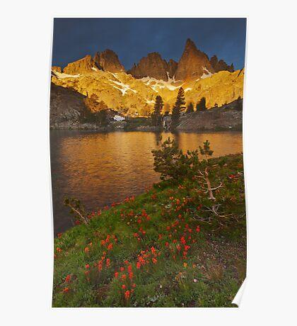 Minaret Lake Sunrise Poster