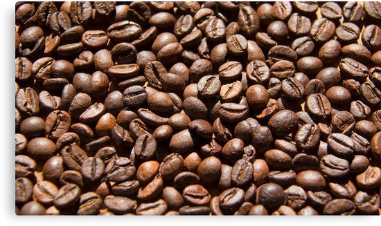 Coffee beans background by Margarita K