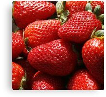 Red Fresh Strawberry Canvas Print