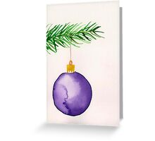 Watercolor card ornament Greeting Card
