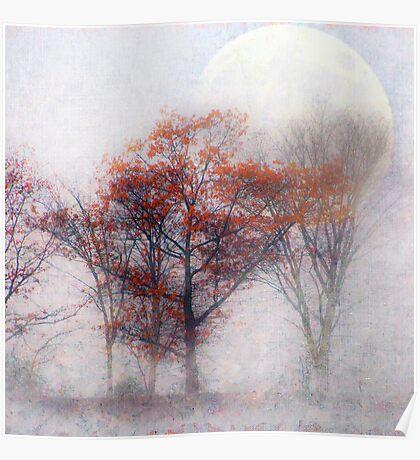 Fall Moon Rising Poster