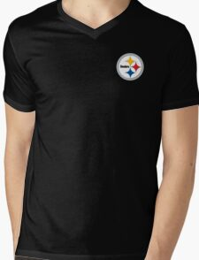 Steelers Logo Mens V-Neck T-Shirt