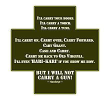 I Will Not Carry a Gun Photographic Print
