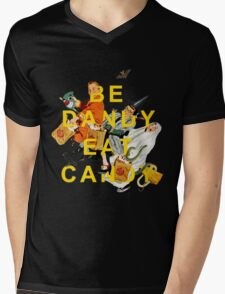 Be Dandy Eat Candy Mens V-Neck T-Shirt
