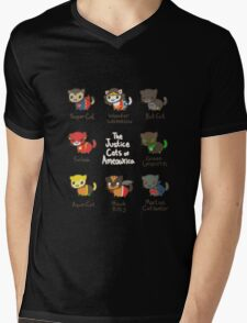 The Justice Cats of Ameowrica Mens V-Neck T-Shirt