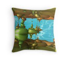 Deep Sea Aliens Throw Pillow