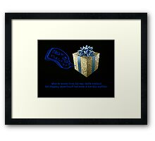 Shipping errors occur at the North Pole Framed Print
