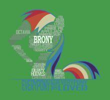 Brony Typography Kids Clothes