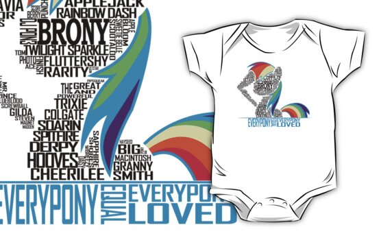 Brony Typography (white) by Northern Dash
