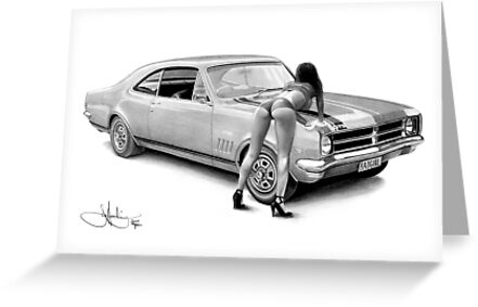 BADGIRL HK Monaro drawing by John Harding