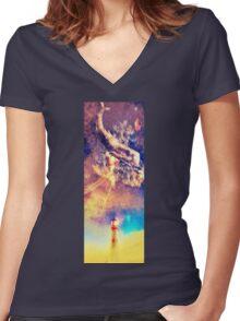 Sky Phenomenon Women's Fitted V-Neck T-Shirt