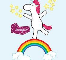 Imagine - Happy Unicorn by heatherwallace