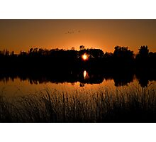 """"""" Sunset on Sterling Pond - Sterling, NY """" Photographic Print"""