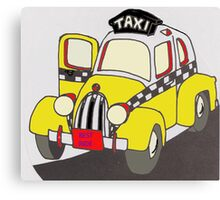 BEST RIDE TAXI Canvas Print