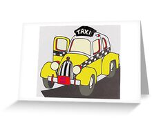 BEST RIDE TAXI Greeting Card