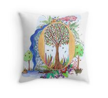 O - an illuminated letter Throw Pillow