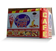 smoothie cafe on coney island Greeting Card
