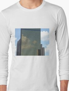Clouds forming on Skyscraper Long Sleeve T-Shirt