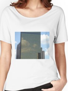 Clouds forming on Skyscraper Women's Relaxed Fit T-Shirt