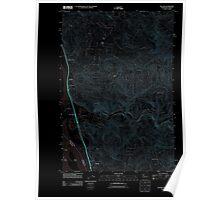 USGS Topo Map Washington State WA Kalama 20110901 TM Inverted Poster