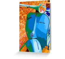 Rainbow Vespa Greeting Card