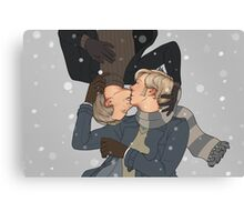 Wintery kisses Canvas Print