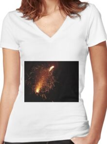 The Fun with Fire Women's Fitted V-Neck T-Shirt