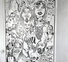 Rachel's Bathroom Door Fusion Mural #1 by ADzArt
