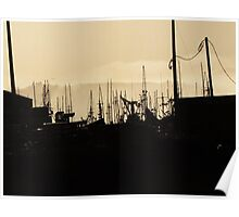 Swaying Silhouette....Newport Bay, Oregon Poster