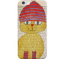 Playful Winter Kitty iPhone Case/Skin