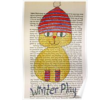 Playful Winter Kitty Poster