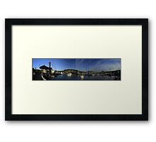 Bellerive Yacht Club Panorama Framed Print