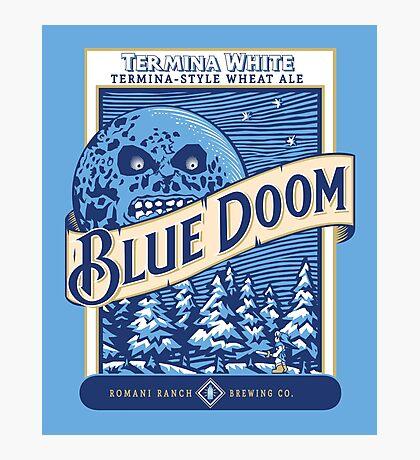 Blue Doom Photographic Print