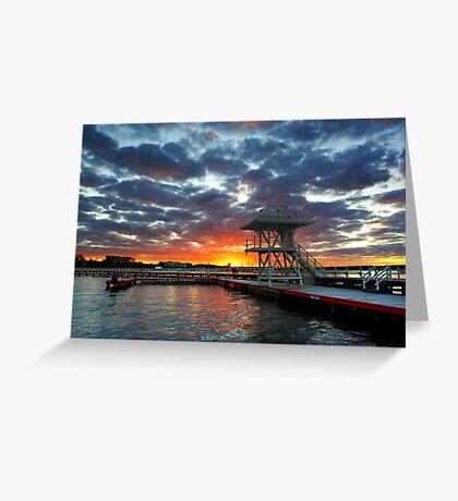 Eastern Beach Swimming Enclosure at Geelong Greeting Card