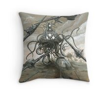 Mankind Has No Time Throw Pillow