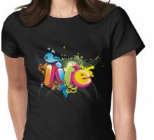 Life 3D Womens Fitted T-Shirt