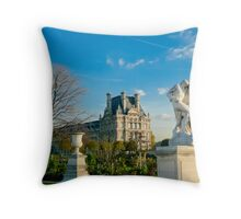 Jardin Des Tuileries Park, Paris Throw Pillow