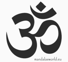 Buddhist Om Mantra Darkgrey by Mandala's World