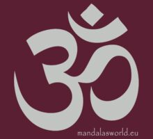 Buddhist Om Mantra Lightgrey by Mandala's World