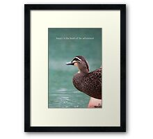Duck's Courage Framed Print