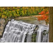 Middle Falls - HDR Photographic Print