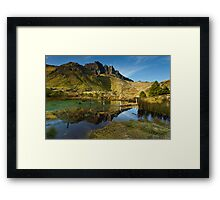 The Old Man in Reflection Framed Print