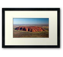 Uluru, Ayers Rock Aerial Framed Print