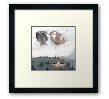 Shadow, Mist, and Stone Framed Print